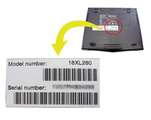 hp(Compaq) ノートパソコンの型番を調べる